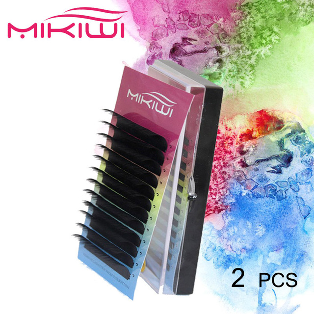 Aliexpress com : Buy Mikiwi 2PCS 0 05 C D Curl individual eyelashes wispies  eyelashes korean eyelashes thick lashes makeup eyelash extension from