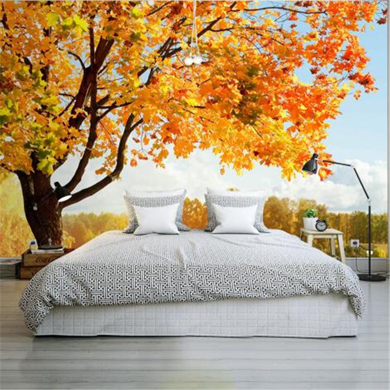 nature bedroom 3d wallpapers landscape murals walls trees living decor background