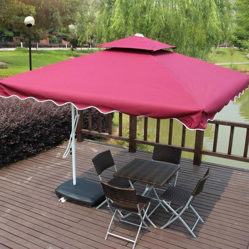 Outdoor UV proof Sunshade Umbrella Folding Beach Umbrella Waterproof Booth Umbrella Sun Shelter advertising tent 2.5metre Square outdoor uv proof sunshade umbrella folding beach umbrella waterproof booth umbrella sun shelter advertising tent 3 0 metre round