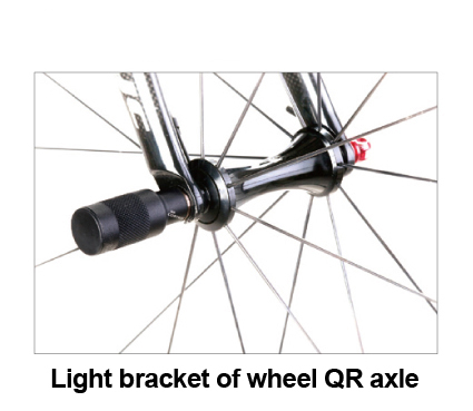 Bike bicycle front light bracket front wheel QR quickrelease axle extension front Flashlight light bracket amo wheel seal front axle