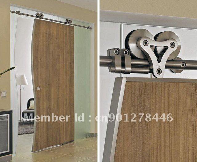 European Modern Sliding Barn Door Hardware For Wood Door Top Hanger