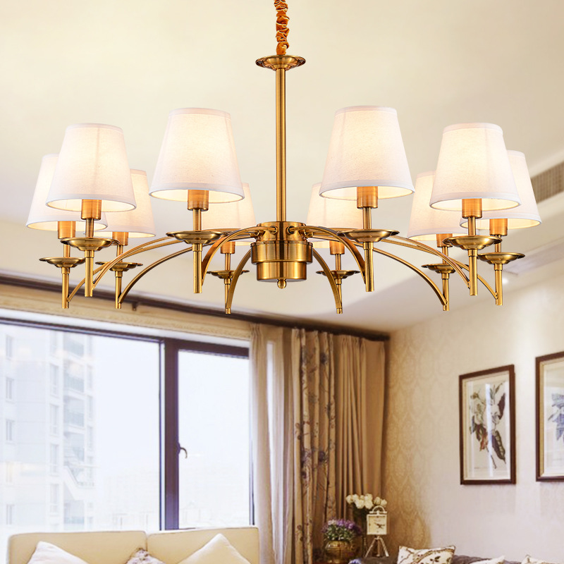 6/8 Heads Modern Gold Chandelier Wrought Gold LED