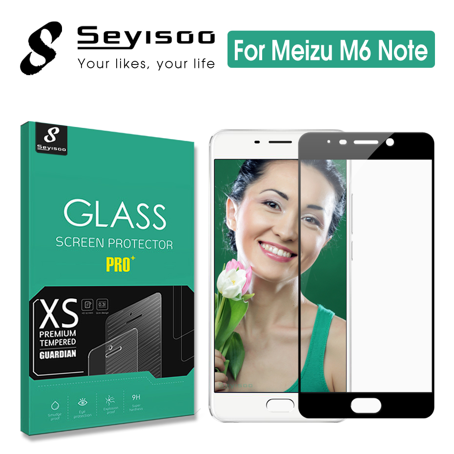 100% Original Seyisoo Premium Full Cover Screen Protector Tempered Glass For Meizu M6 Note Meilan Note 6 Note6 0.3mm 2.5D Film screen protector tempered glass glass for meizu tempered glass -