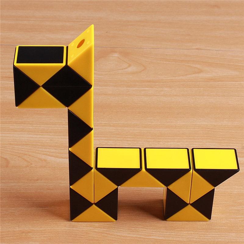 Viteza originală Magic Cube Șarpe Puzzle Ruler Twist 24 Blocuri - Jocuri și puzzle-uri - Fotografie 4