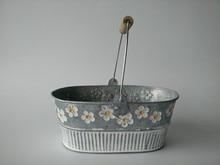 Metallo Fioriera di Ferro vaso di Fiori Ovale Sharp scatola di latta vasi di Ferro Hanging Planter Stile vintage 4 pz/lotto Trasporto Libero