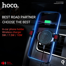 hoco wireless car charger air outlet mount qi phone adapter in-car charging holder for iphone samsung bracket