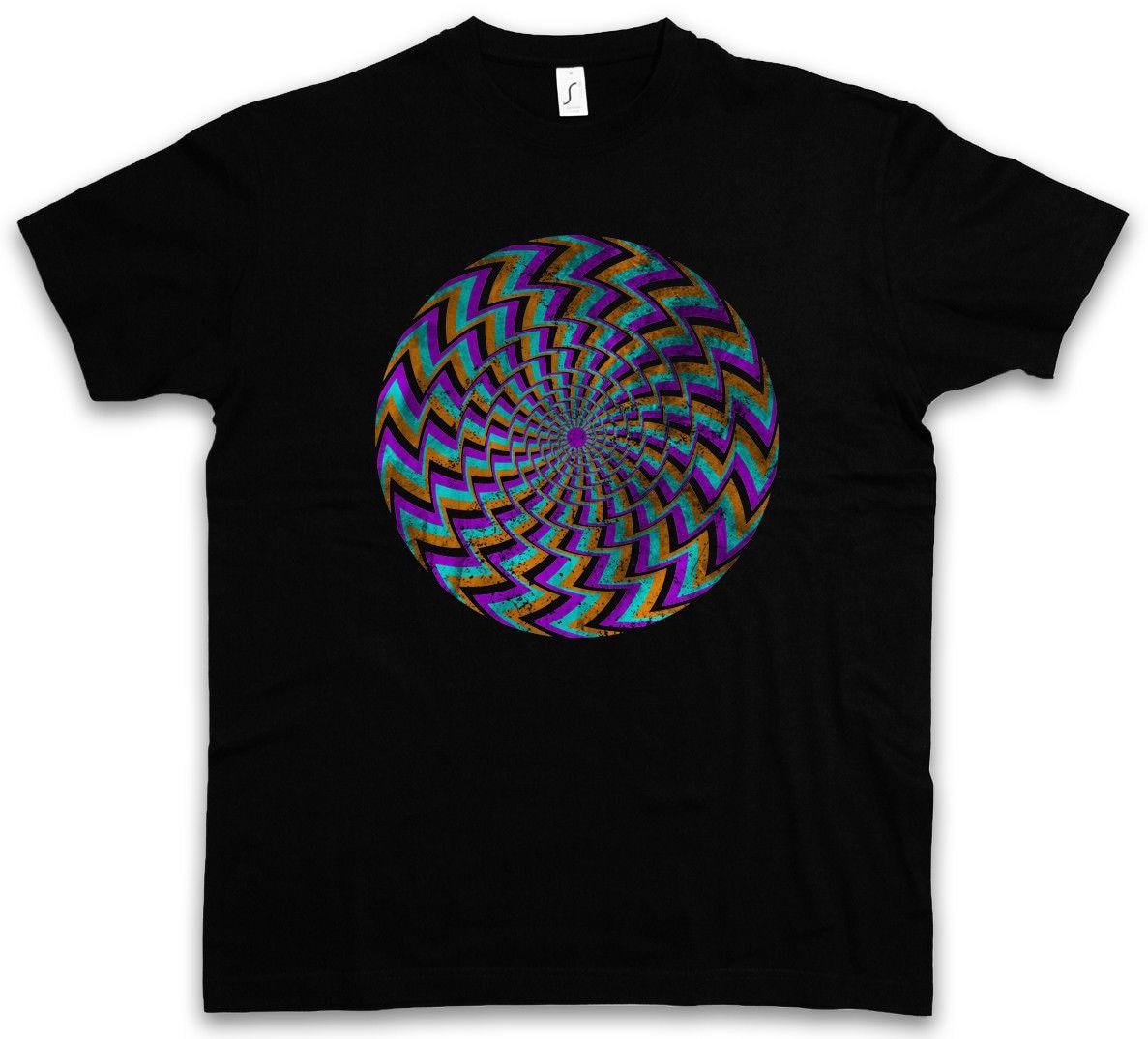 HYPNO SPIRAL II T-SHIRT Labyrinth Mystic Hypnotic Esoterik Circle