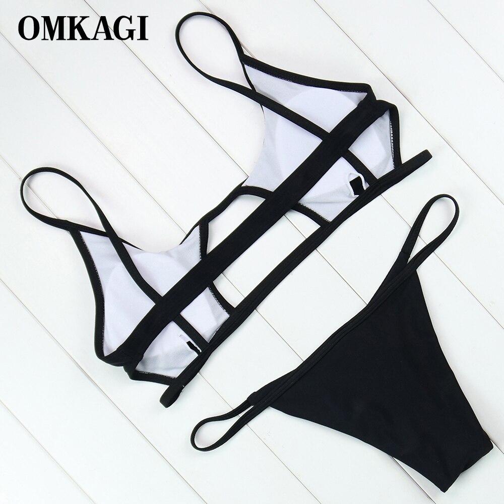 OMKAGI Brand New Swimwear Women Micro Bikinis Set Sexy Push Up Bikini 2018 Swimsuit Female Swimming Suit Bathing Suit Beachwear 2