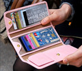 new elegant long card wallets Pu leather multicolors men and Women's folding Credit card holder Size:17*9.5cm