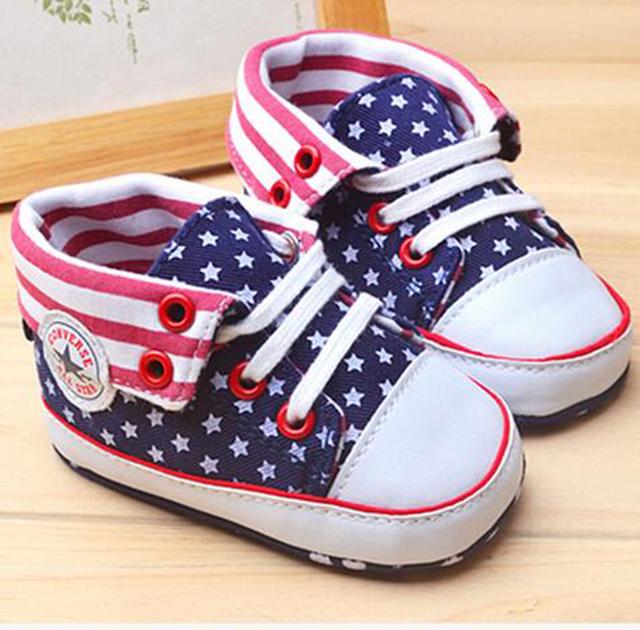 Primeros Caminante Zapatos de Deporte Infantil de Bebé de la Lona Niños Niñas Infantil Bota Niño Mocasines Zapatos de Entrenamiento Para Niños 703068