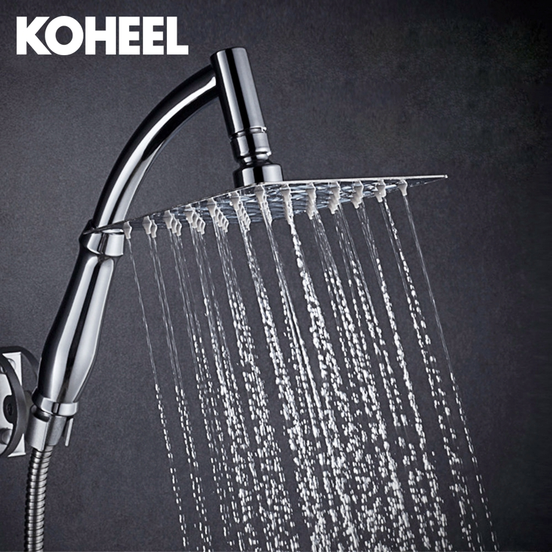 New Arrival 360 Universal Chrome Finished Wall Mounted Brass Shower Arm 8 Shower Head + 2 Conversion Of Rod