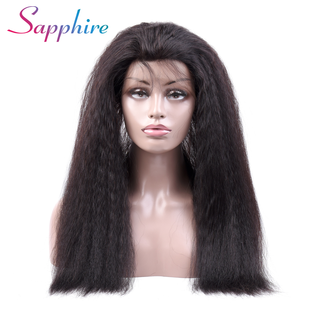 Sapphire Kinky Straight 360 Lace Frontal Closure With Baby Hair Natural Color 100 Human Hair Peruvian