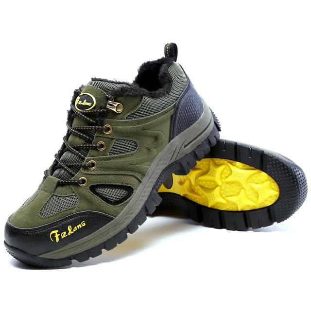 Waterproof Hiking Shoes Man Mountaineer winter sneakers for men Hiking Boots Warm Hunting Footwear Sport Outdoor Athletic Shoe