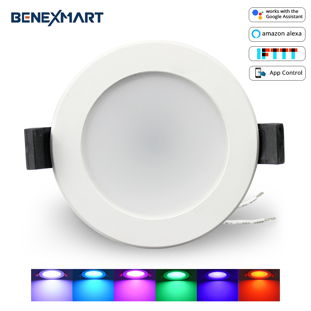 Image 1 - Smart LED Downlight, Multicolored Dimmable ,Support Alexa Echo/Google Home Assistant/IFTTT/APP Control 2.5 inch 5W-in Smart Remote Control from Consumer Electronics