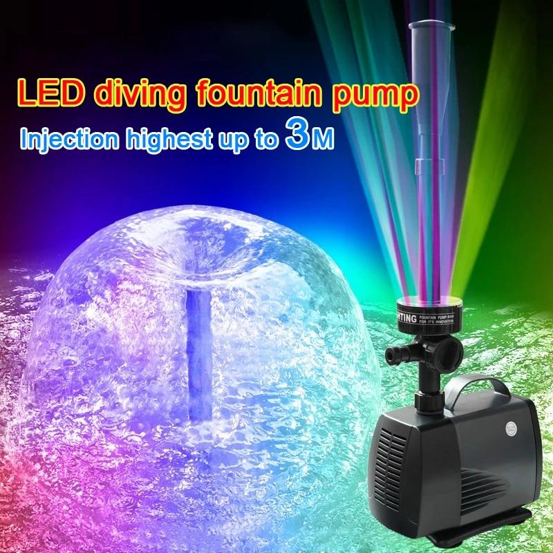 40 W 45 W 3500l H Led Berkedip Lampu Submersible Pompa Air Mancur Fountain Pembuat Kolam Ikan Taman Kolam Renang Pompa Air Aliexpress