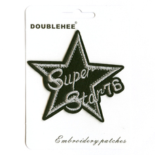 Stars Silver Wire Supermarket Gift Card Specification Patch Embroidered Iron On Patches Cloth Coat Bag Shoes DIY Accessories