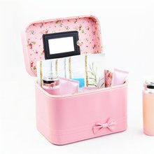 Waterproof Portable Cosmetics Bag with Bow