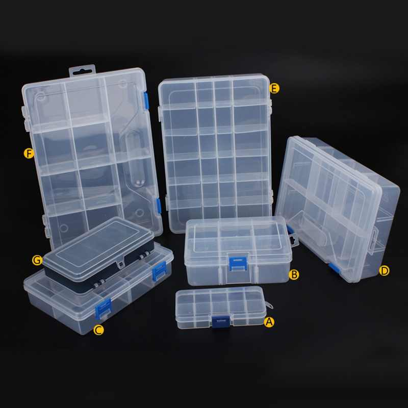 Urijk Jewelry Plastic Tool Box Home Boxes For Tool Electronic Components Storage Box Combination Screw Finishing Ring Box New