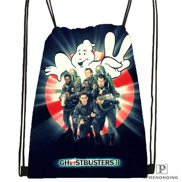 Custom Ghostbusters Leslie Jones Drawstring Backpack Bag Cute Daypack Kids Satchel (Black Back) 31x40cm#20180611-02-80