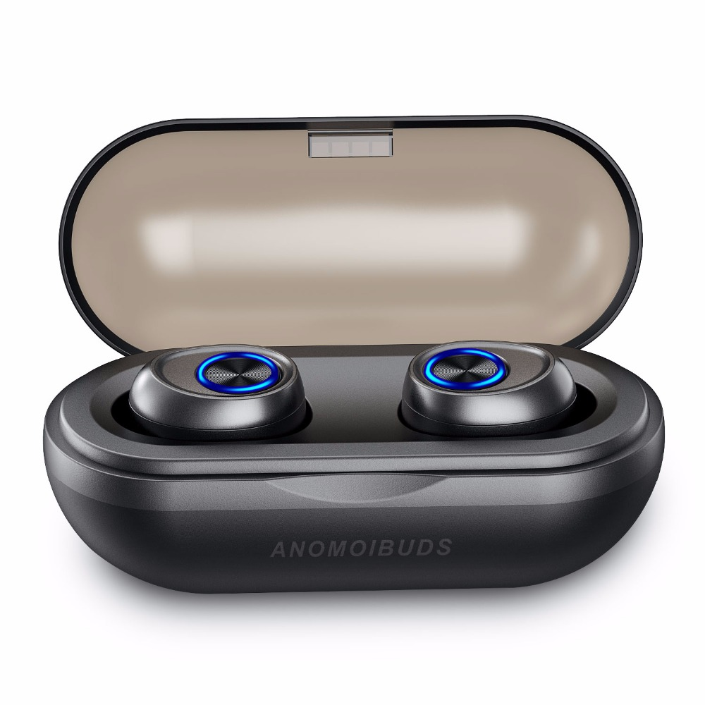 Anomoibuds IP010-A Capsule Wireless Bluetooth Earphones <font><b>TWS</b></font> Earbud Auto Pairing Noise Cancelling V5.0 Stereo Call Sport Earphone image