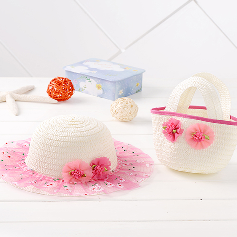 ᓂ2015 nuevos niños sombrero bolsa verano Sol sombrero Niñas niños ...