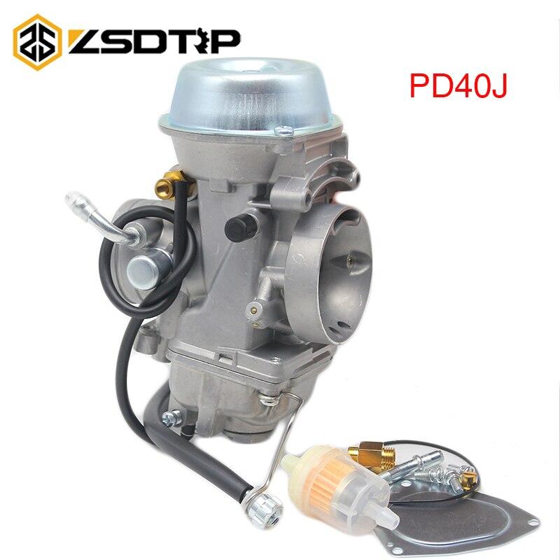 Карбюратор ZSDTRP PD40J 40 мм, вакуумный карбюратор, Чехол Для POLARIS 500, универсальный, от 400cc до 600cc, гоночный мотоцикл, мотовездеход, КАРБЮРАТОР