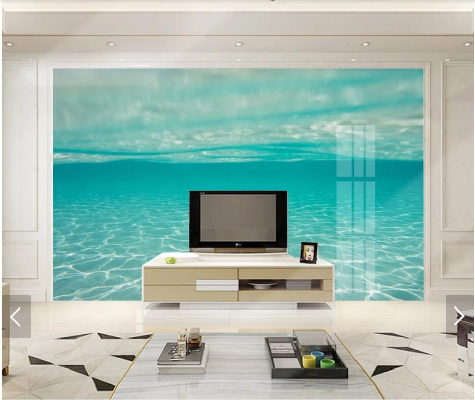 3D Abstract Blue Sea Wall Mural Wallpaper Printed Photo Wall Paper Roll Contact Paper Wallpapers For Living Room Papel De Parede
