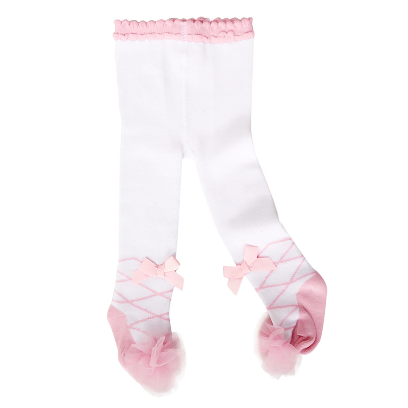 0-24M Baby Tights Pantyhose Winter Newborn Baby Girl Tights Cotton Princess Bow Lace Girls Stockings Toddler Infant Baby Stock