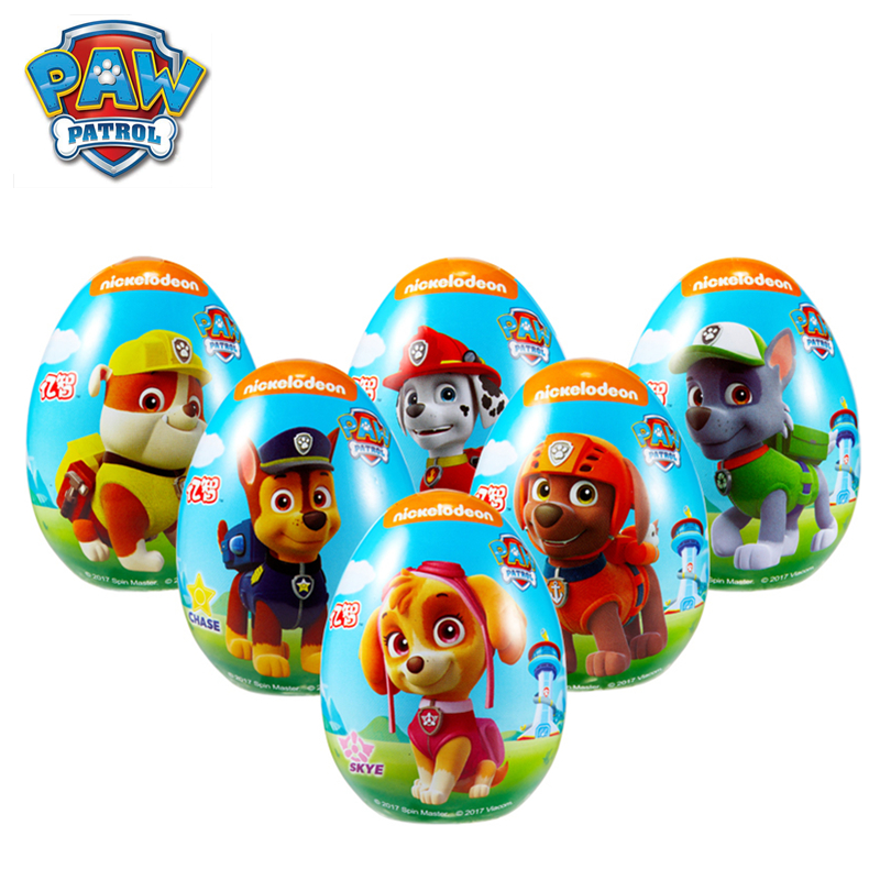 Original Paw Patrol Dog Fun Surprise Egg Toy Random Gift Soft Candy Cartoon Action Figure Model Child Birthday Gift
