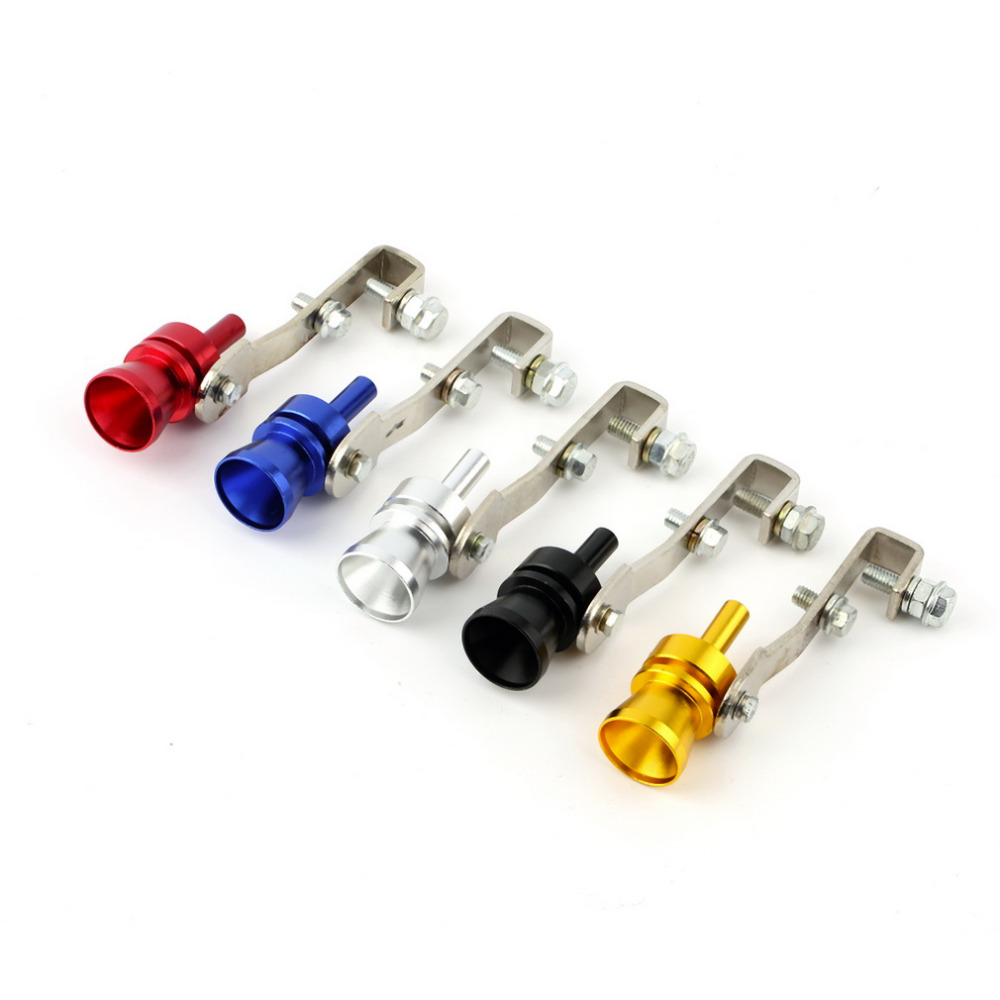 M Størrelse Universal Car BOV Turbo Sound Whistle Simulator Lydrør Udstødningsdæmper Rør Sort Drop Shipping & High Quality