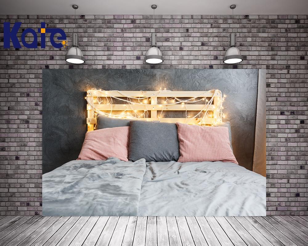 KATE 10ft Photo Background Sfondo Fotografia Bambini Bambini Headboard Bed Backdrops Soild Brick Wall Newborn Backdrops