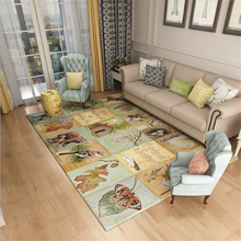 купить American Countryside Carpets For Living Room Home Rugs And Carpet For Bedroom Coffee Table Floor Mat Anti-Slip Study Area Rug дешево
