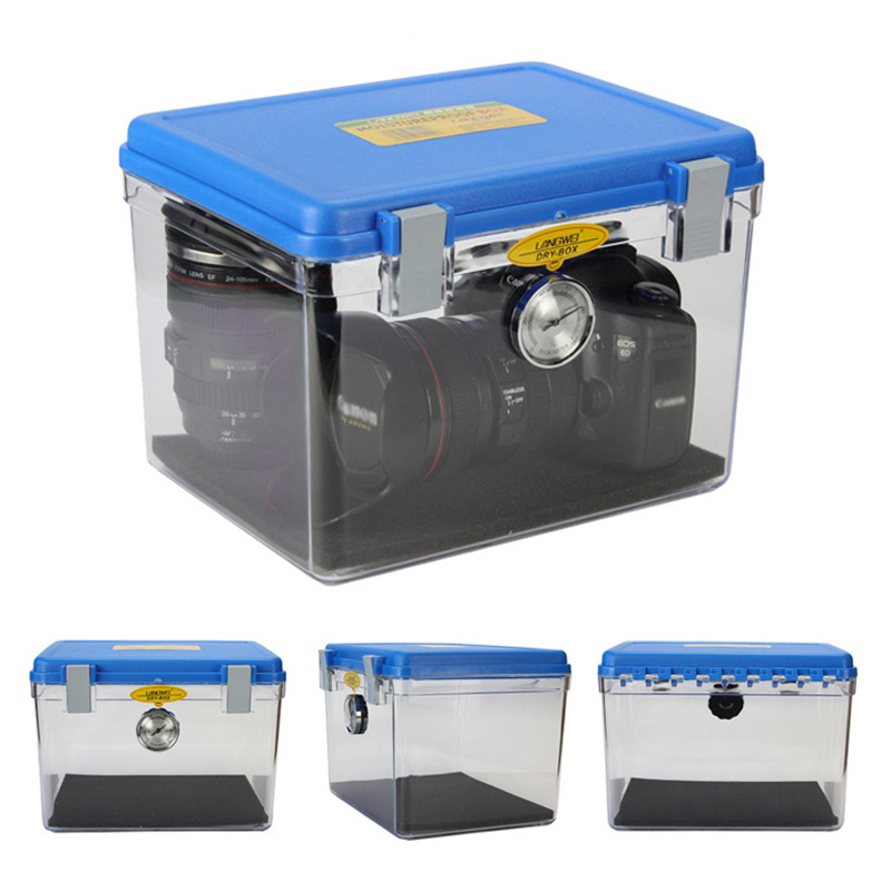 Roadfisher Medium Waterproof Shockproof Case Dry Moistureproof Storage Seal Box Hygroscopic Card Insert For Gear Camera Lens