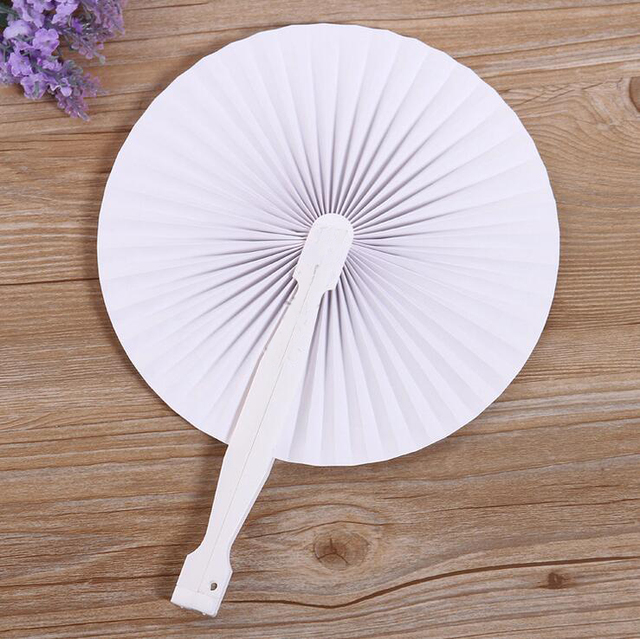 1000pcs summer style chinese folding hand paper fans wedding hand