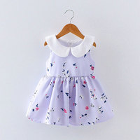 Zomer leuke meisje baby kleding leuke print jurk voor peuter baby baby meisjes kleding prinses verjaardagsfeestje tutu jurken jurk