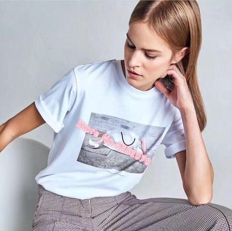 Gepäck & Taschen Zielsetzung 10th Anniversary 2019 Frühling Sommer Handtasche Einkaufen T-shirt Frauen Baumwolle Kurzarm T-shirt Frauen T-shirt