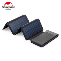 Naturehike 10000mAh Outdoor Fast Charging Solar Mobile Power Large Capacity Camping Portable Folding Solar Cell Phone Charger