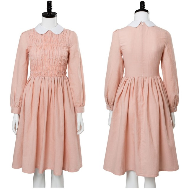a230b900537d Stranger Things Cosplay Costume Eleven Millie Bobby Brown Dress Cosplay  Costume Adult Women Full Sets Halloween Carnival Costume