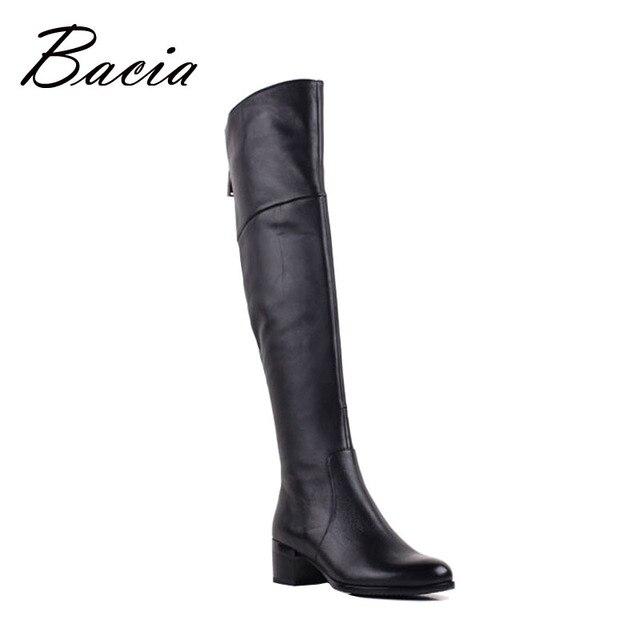 Bacia/бренд Для женщин Сапоги и ботинки для девочек Осенне-зимняя кожаная обувь на среднем каблуке обувь из овчины Мягкая натуральная Сапоги и ботинки для девочек Короткая плюшевая обувь vb079
