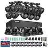 16CH AHD DVR Kit 1080P CCTV System 16CH AHD DVR Recorder 2 0MP IR Outdoor Bullet