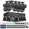 16CH AHD DVR Kit 1080P CCTV System 16CH AHD DVR Recorder 2 0MP IR Outdoor Bullet