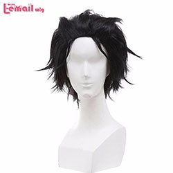 New-wig-Life-in-a-Different-World-from-Zero-Mao-Black-Grey-Mix-Short-Styled-Anime