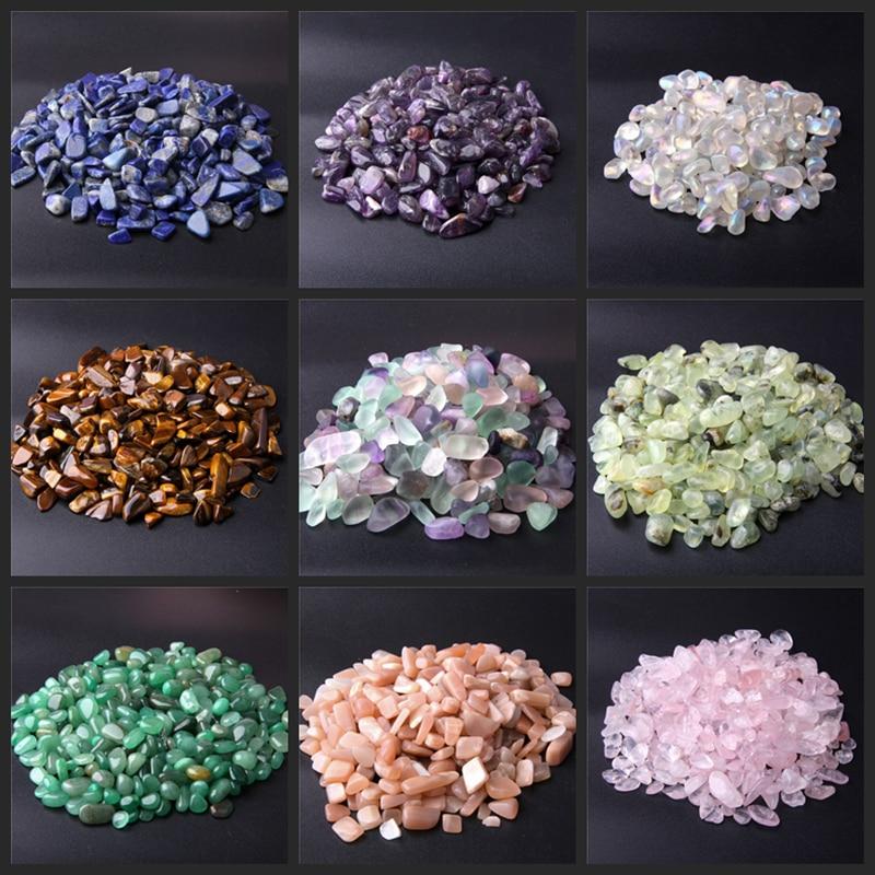 20g 50g Natural Stone Rock Gravel Crystal Tumble Stone Minerals Gravel Specimen Stone Energy Decorative Stone Fish Tank Stone