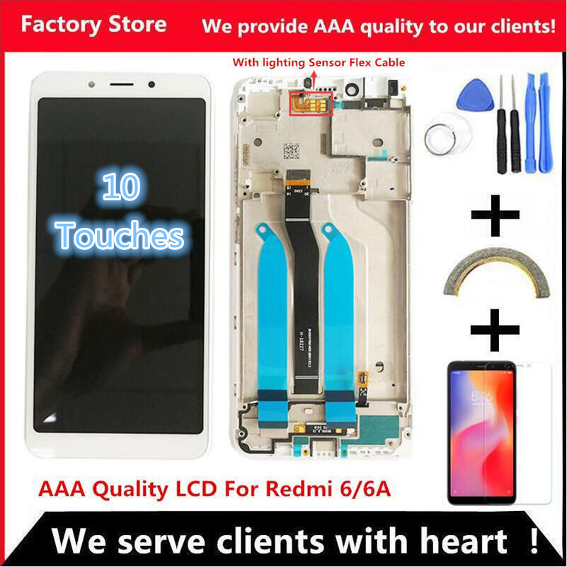 5 45 AAA Quality IPS LCD Frame For Xiaomi Redmi 6 LCD Display Screen Replacement For Innrech Market.com