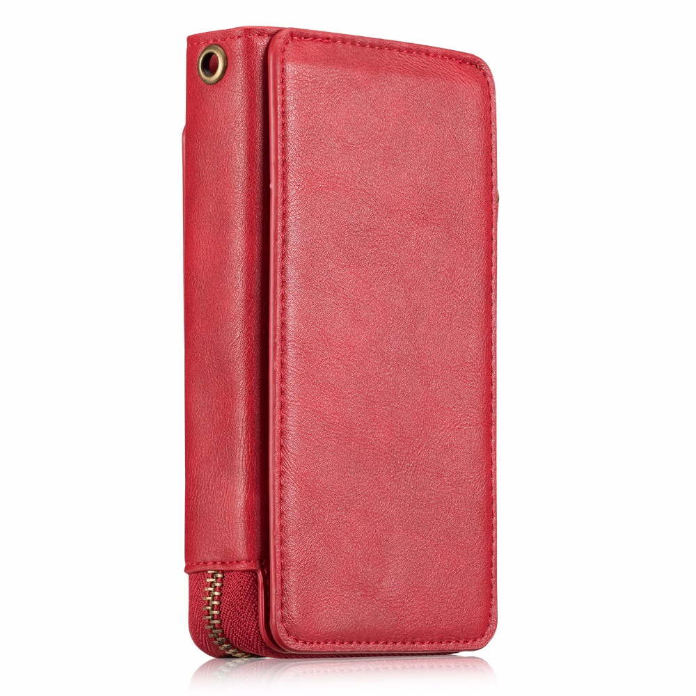 For Apple iPhone7 Case Vintage Wallet Leather Case for iPhone7Plus Zipper Wallet Card Slot Phone Case Cover