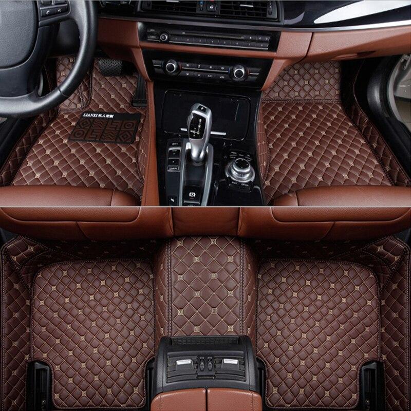 BLACK WITH WHITE TRIM FOR BMW X1 X3 X5 X6 M SPORT F30 UNIVERSAL CAR FLOOR MATS Części samochodowe
