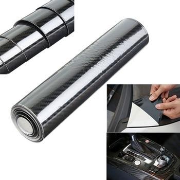 35*150 см ПВХ 5D углеродное волокно виниловая пленка для автомобиля рулон Наклейка черный воздушный релиз пузырьковый Стайлинг Аксессуары для ...