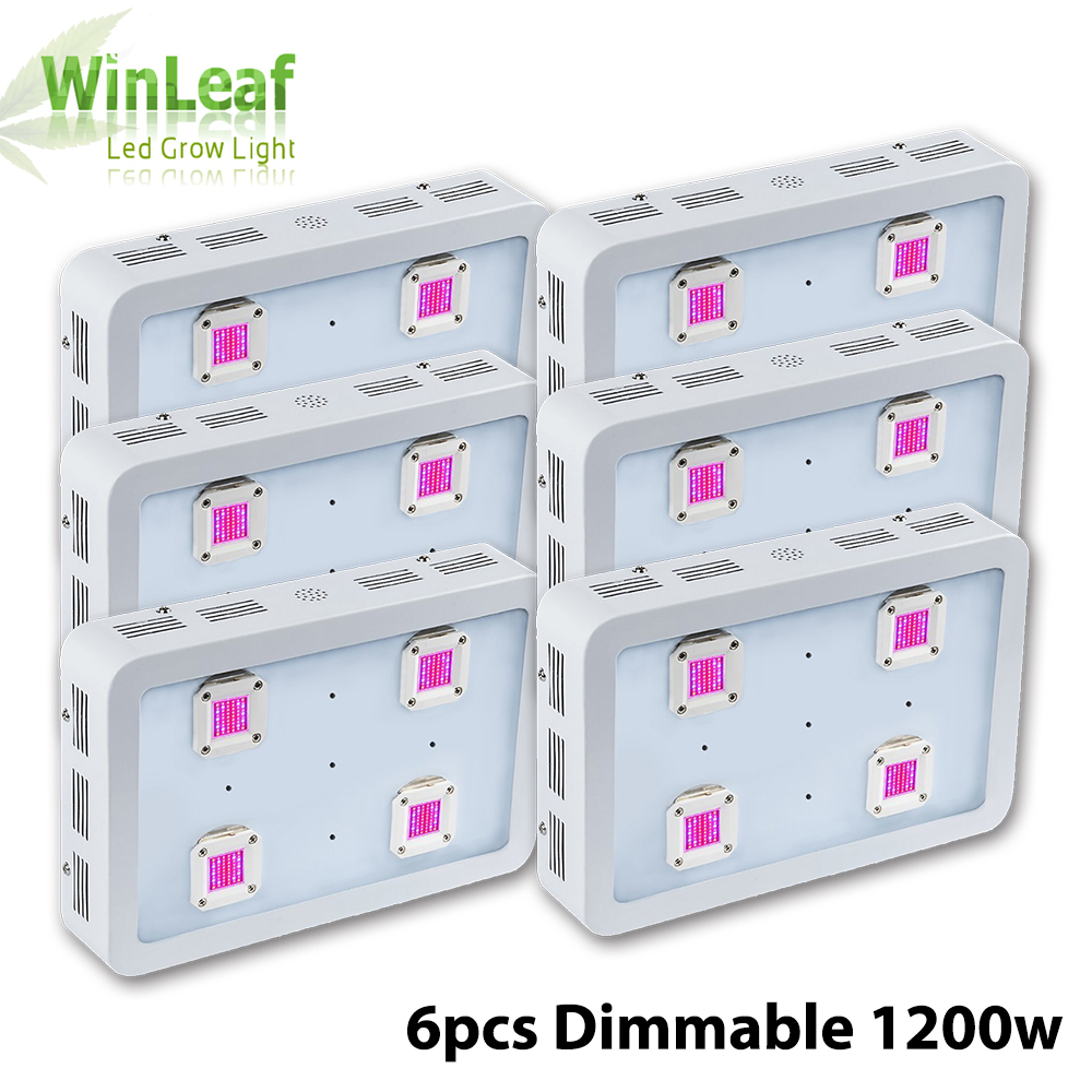 6pcs Dimmable X4 1200W LED Grow Light COB LED Full Spectrum Indoor Grow Lights For Medicinal Plants Veg&Flower in Greenhouse medicinal plants for anti inflammatory activity