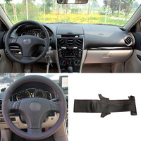 DIY Sewing on PU Leather Steering Wheel Cover Exact Fit For Mazda 3 Mazda 5 Mazda 6 2003 2009
