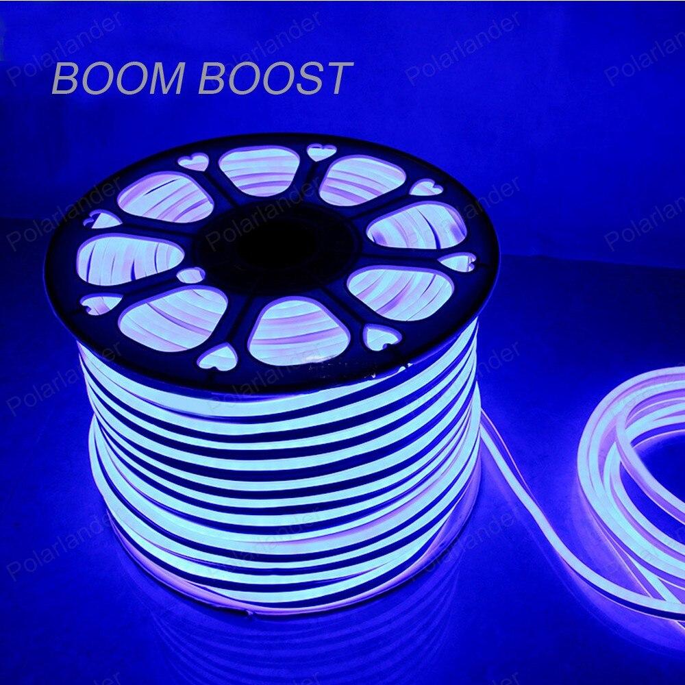 Boom Boost 220V 5M EL <font><b>Led</b></font> 2835 smd Flexible <font><b>Soft</b></font> Tube Wire Neon Glow Car <font><b>Rope</b></font> Strip <font><b>Light</b></font> Xmas Decor <font><b>lights</b></font>